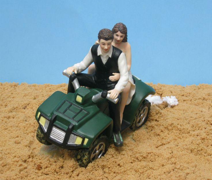 Atv Camo Wedding Cake Topper