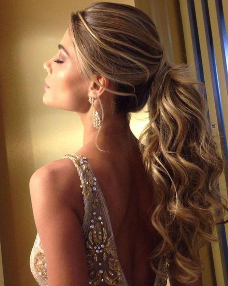 Adorable Ponytail Hairstyles; Classic Ponytail For Long Hair; Dutch Braids To A High Pony;High Wavy Pony For Shoulder Length Hair #Longhairstyles