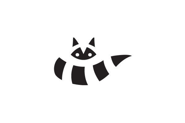 Wicked raccoon logo