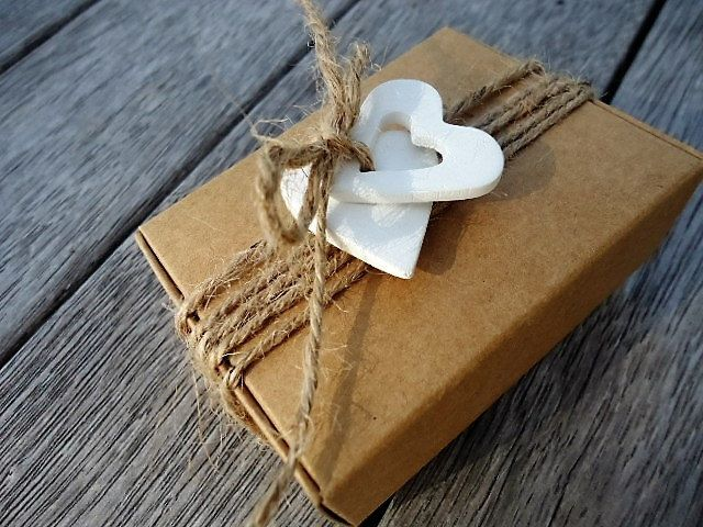 Clay Tag with Gift Box - Set of 4 by MYMIMISTAR on Etsy