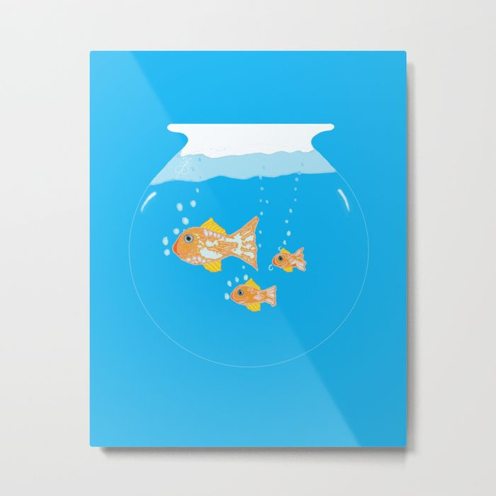 Buy Goldfish III Metal Print by ecreativeartdesign. Worldwide shipping available at Society6.com. Just one of millions of high quality products available.
