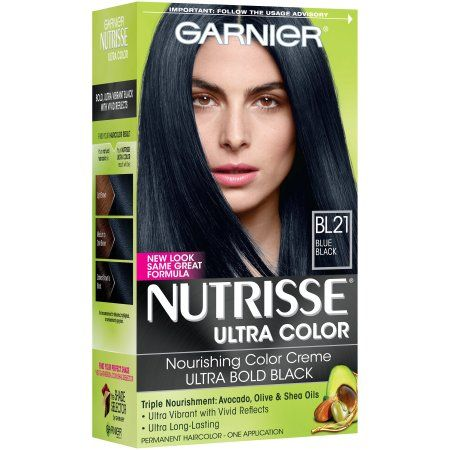 Garnier Nutrisse Ultra Color Nourishing Color Creme, BL 21 Reflective Blue Black
