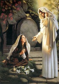 Jesus Christ and Mary Magdalene - He is our Lord and Savior who took all things upon him and gave up his will for the Father's and his life for our lives. Mary Magdalene must be an amazing woman indeed to have had the honor of being the first to see the Living Christ.