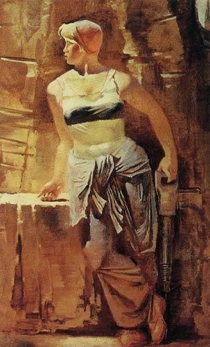 USSR. Alexander Nikolayevich Samokhvalov (1894-1971).