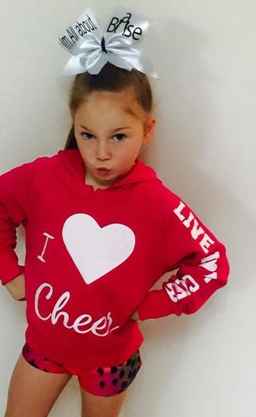 Blinged Pink Cheerleading i love cheer hoodie size 4-14