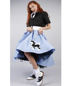 Light Blue Poodle Skirt Outfit