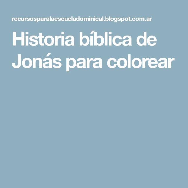 Historia bíblica de Jonás para colorear