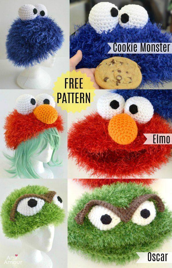 ELMO Muppet Beanie Pattern
