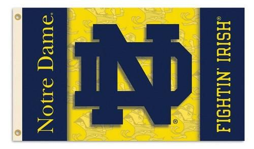Notre Dame Fighting Irish 2-Sided 3 x 5 Banner Flag