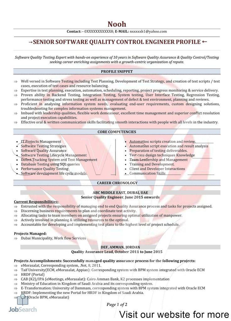 48++ Quality assurance resume pdf ideas