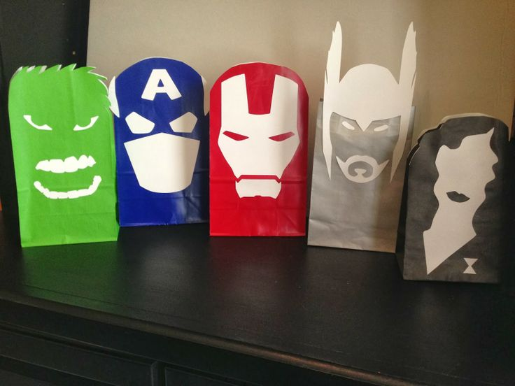 Clearly Candace: Super Sacks! Avengers party favors made easy!