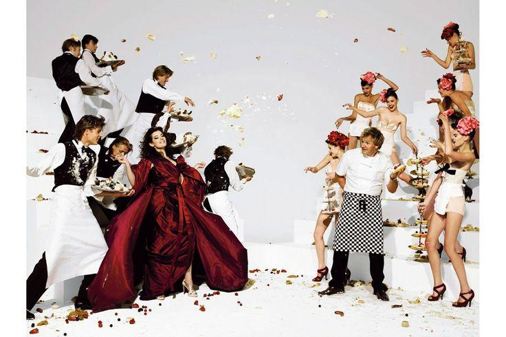 Nigella Lawson and Gordon Ramsay by Mario Testino (Vogue UK December 2006)