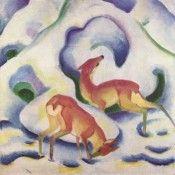 Rehe im Schnee - Franz Marc - Gemälde Reproduktionen in Premium Qualität auf paintify.de #paintify #Kunst #Dekoration #Franz_Mark #shopping #handgemalt  #Gemaelde #Oelgemaelde #Foto  #Reproduktionen #Alte_Meister #Geschenk #personalisierte #Geschenke #Geschenkidee #Geschenkideen #historisch #Tiere #Animals #Rehe #Reh
