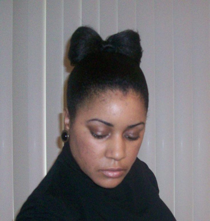 How to Create a Hair Bow Bun - Tutorial with Video - https://blackhairinformation.com/hair-care-2/styling/how-to-create-a-hair-bow-bun-tutorial-with-video/