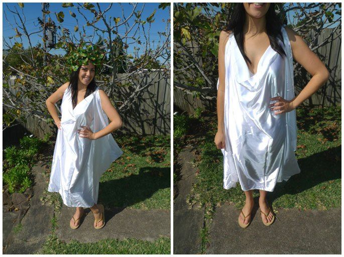 greek togas how to make