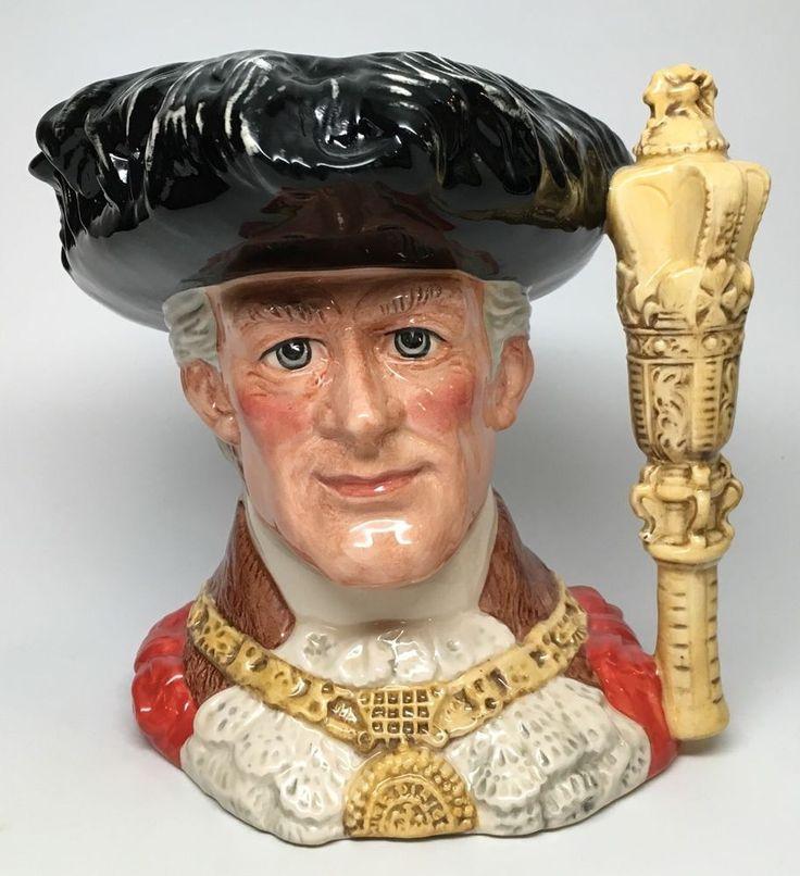 Large Royal Doulton Character Jug 034 Lord Mayor of London 034 Toby Mug D6864 | eBay
