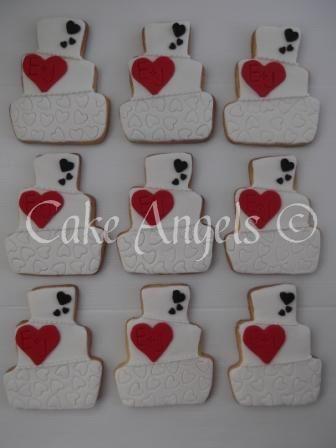 Wonky Wedding Cake Cookies