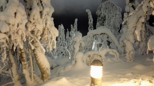 A winter-evening at Samiland.