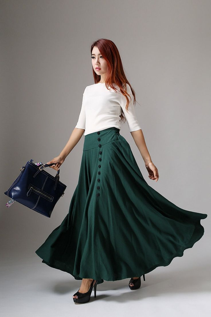 Best 25  Long maxi skirts ideas on Pinterest | Long skirt looks ...