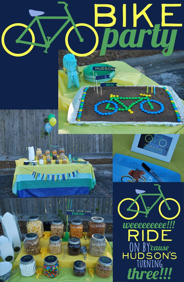 snowbird design: Bike Party, trail mix bar, bicycle party, road rally