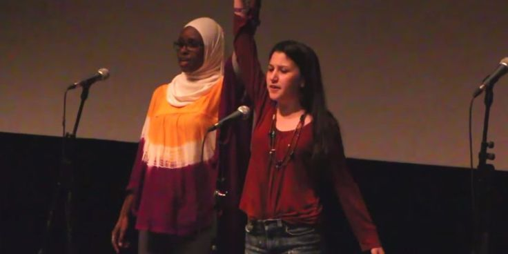 amazing spoken word about religious tolerance,by two teen girls one Muslim and one jewish.