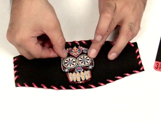 Mark Montano: The Crafty Chica Sugar Skull Patch Cuff!