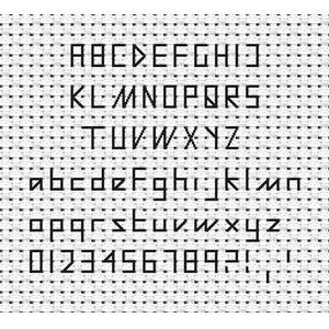 Tiny Backstitch Font Chart