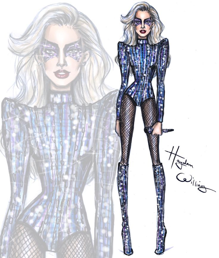 Lady Gaga in Versace for her 2017 SuperBowl Halftime performance.