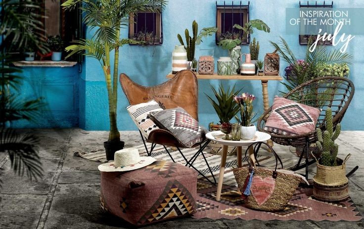 """Hello """"Mexican spirit""""! July's inspiration mixes boho and tropical trends in order to create a super-relaxing look you can enjoy at home. Explore it here http://www.inart.com/en/blog/months-inspiration-mexican-spirit.html"""