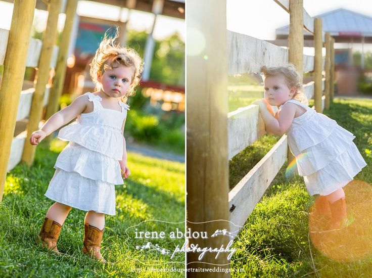 2-year old girl in cowboy boots at Frying Pan Farm Park in Herndon ...