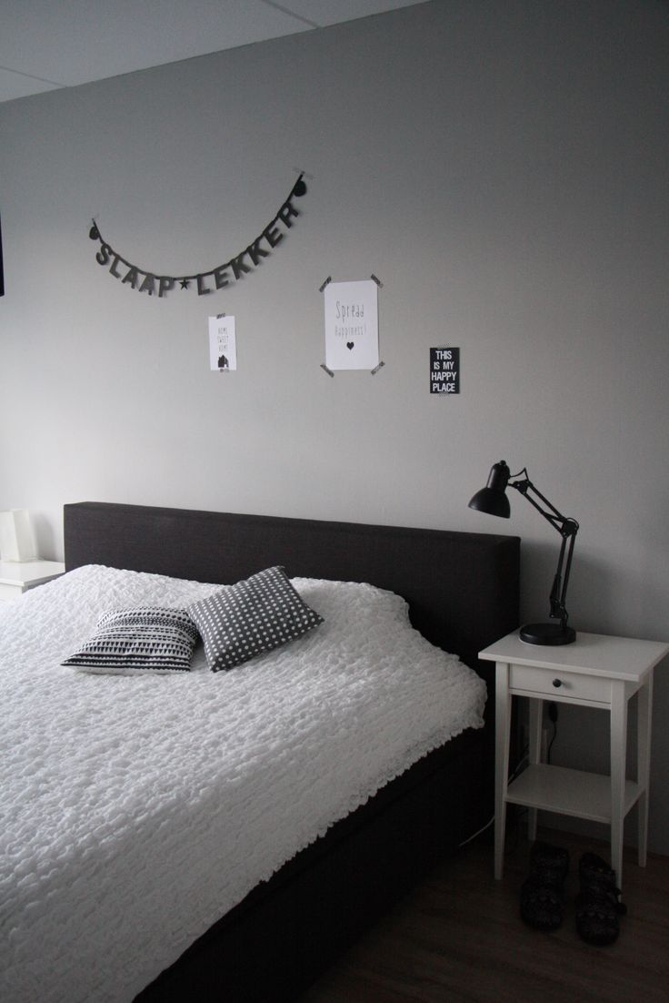 Zwart wit behang slaapkamer beste inspiratie voor interieur design en meubels idee n - Grijze slaapkamer ...