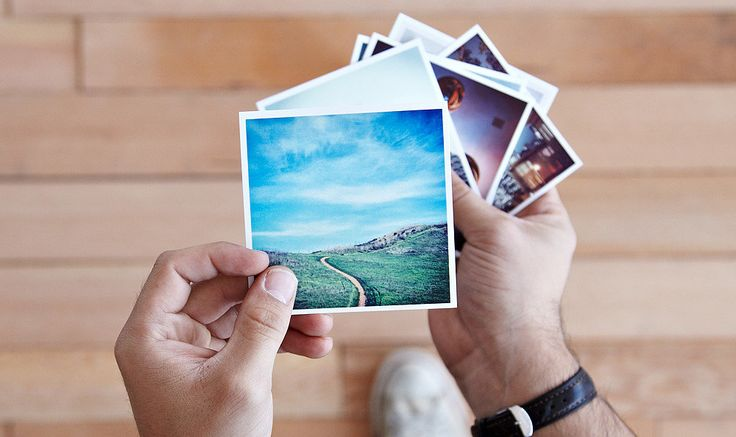 How to print Instagram photos - ideas for making magnet photos for save-the-dates or gifts