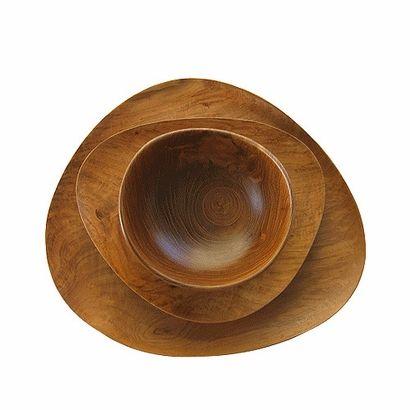 Teakwood Free Form Plate by inmod via oreeko
