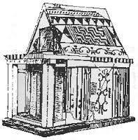 Modellino del tempio di Hera; fine VIII secolo a.C.; pianta rettangolare; Heraion di Argo.