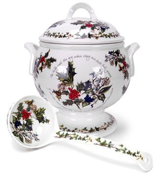 Portmeirion The Holly & The Ivy Soup Tureen & Ladle - 5.5 qt