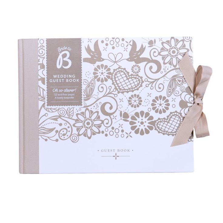 A wedding day essential, this beautiful traditional guest book is the ideal setting for those heartfelt congratulations from your most treasured guests on your big day.