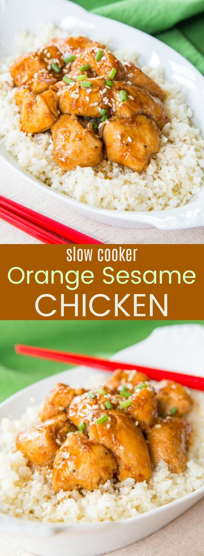 Slow Cooker Orange Sesame Chicken Recipe from The Big Book of Paleo Slow Cooking