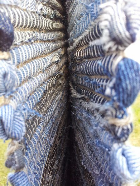 Hand woven denim rug made of recycled jeans by denimize on Etsy