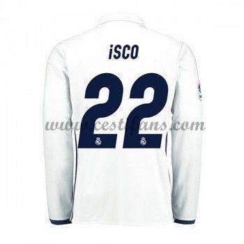 Real Madrid Fotbalové Dresy 2016-17 Isco 22 Domáci Dres Dlouhým Rukávem