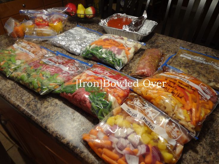 Freezer recipes in the post: Teriyaki Chicken, Meatloaf, Roast, Beef Stew, Paleo cheese steak, Pork tenderloin, Marsala sauce, Beef Stir-fry, Chicken Stir-fry, Stuffed Bell Peppers, Spinach Lasagna
