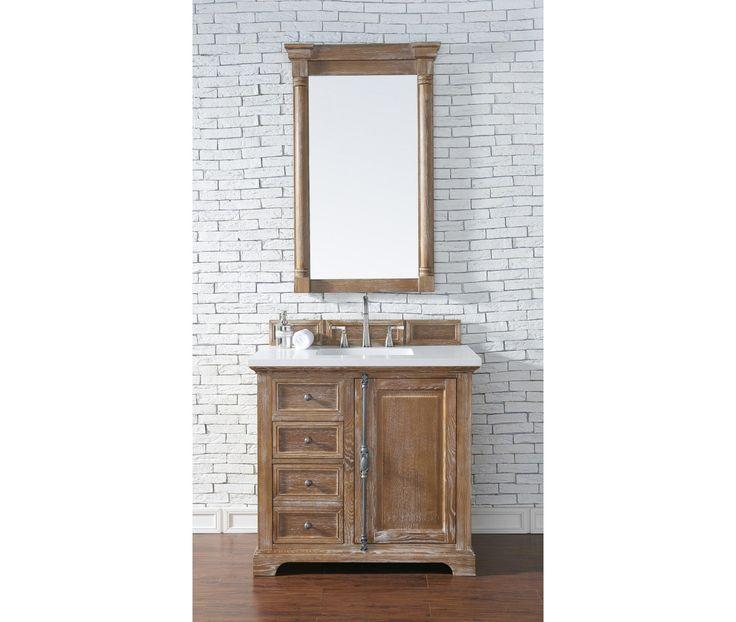 "Providence 36"" Driftwood Single Bathroom Vanity - Single Vanities"