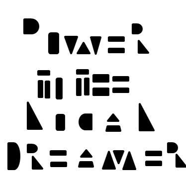 """Pøwer tø the løcal dreamer ... in the style of Tyler's """"carpe noctem"""" tattoo, his trademark of hidden message in the negative space"""