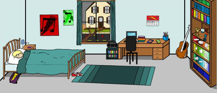Luke Rosenhart's bedroom. Upbeats.