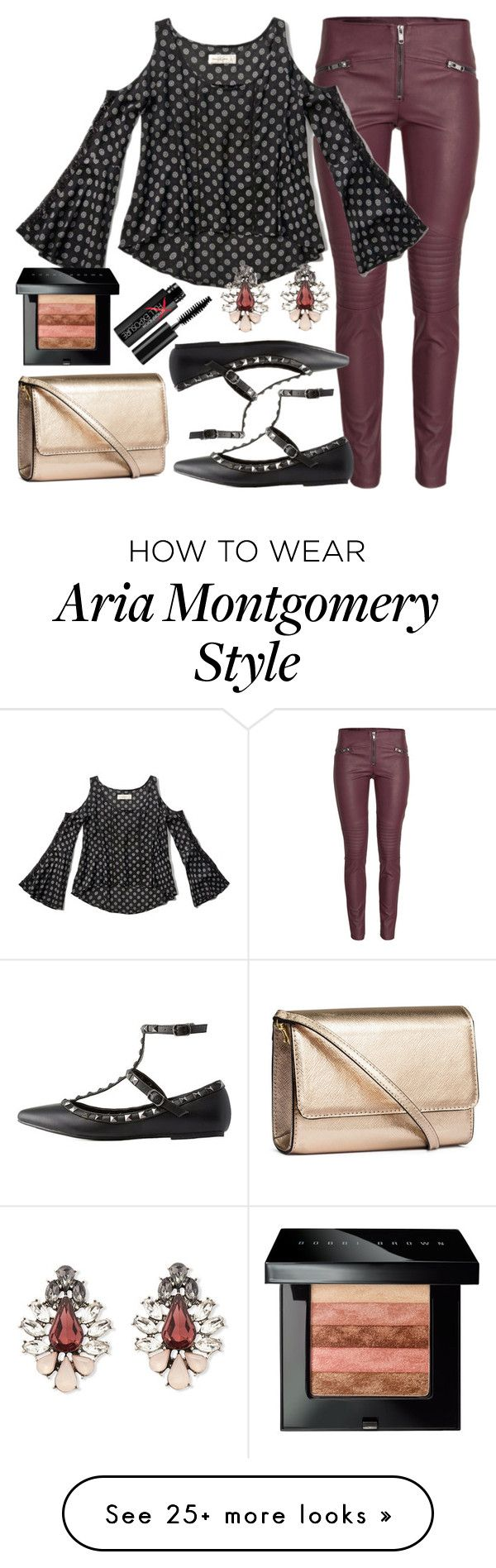 """Aria Montgomery inspired outfit"" by liarsstyle on Polyvore featuring mode, H&M, Abercrombie & Fitch, Charlotte Russe, Forever 21, Bobbi Brown Cosmetics, Smashbox, NightOut en party"