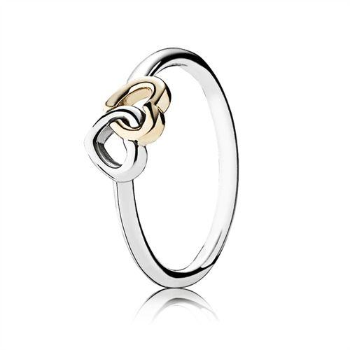Pandora Ring verschlungene Herzen 14k gold 190927 https://www.thejewellershop.com/ #schmuck #pandora #ring #jewelry #gold #silber #silver #heart