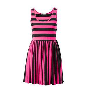 Hot Options Neon Stripe Skater Dress - Pink – Target Australia