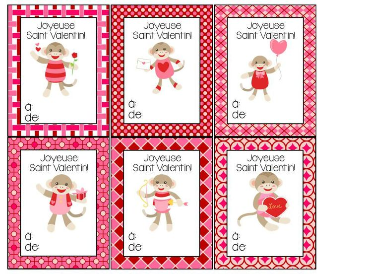 Free Valentine's Day Cards in French!