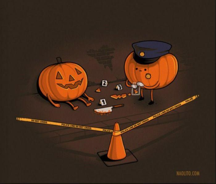Un crimen muy a lo #halloween