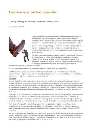 ISSUU - Assédio moral no ambiente de trabalho by Ana Campelos