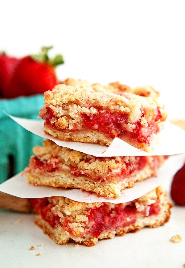 Strawberry Crumble Bars - Some the Wiser